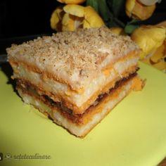 Reteta Prajitura cu Foi de Bulion si Crema de Gris (de Post) Sandwiches, Food, Essen, Meals, Paninis, Yemek, Eten