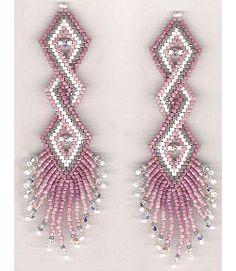 Double Helix Earrings Beading Pattern At Sova Enterprises Seed Bead