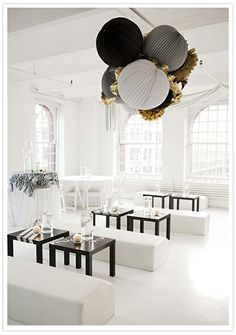 This is how I would setup the venue for my New Year's Eve celebration, as it is simple yet extremely tasteful.   #whbm #feelbeautiful