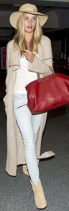 Rosie Huntington-Whiteley, Shoes – Iro Purse – Gucci Sunglasses – Oliver Peoples Jeans – Pierre Balmain