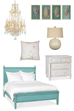 coastal beach style bedroom decor. I would love for Michael to make our room like this.