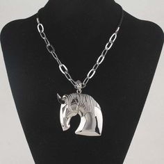 Silver Three Dimensional Horse Head Pendant Stainless Steel Pendant Necklace For Men Fashion Jewelry Free Shipping Wholesale-in Chain Necklaces from Jewelry & Accessories on Aliexpress.com | Alibaba Group