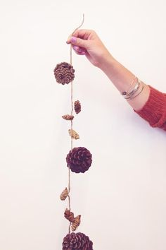 DIY Pinecone garland.