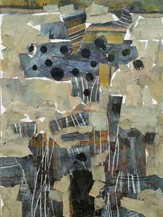Ehssan Sattouf /Collage and oil on paper/