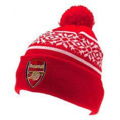 abcc139841a42 Official Arsenal Ski Hat Knitted Beanie snowflake style knitted hat n-  adults one size fits all n- embroidered crest n- with a swing tag n-  official ...