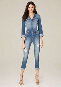 d538040c03 Denim Pocket Jumpsuit Denim Jumpsuit
