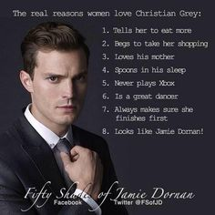 Fifty Shades Of Grey Movie I Just Love Him Noshame Jamie Dornan