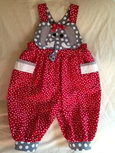 Little Alabama Fan Romper Sewing Kids Clothes, Doll Clothes Patterns, Sewing For Kids, Baby Sewing, Clothing Patterns, Romper Dress, Romper Pants, Baby Dress, Toddler Outfits