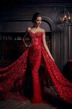 Prom Dress Beautiful, 2019 Lace Off The Shoulder Mermaid Prom Dresses Court Train Detachable, Discover your dream prom dress. Our collection features affordable prom dresses, chiffon prom gowns, sexy formal gowns and more. Find your 2020 prom dress Mermaid Evening Dresses, Formal Evening Dresses, Red Evening Gowns, Red Wedding Dresses, Red Mermaid Wedding Dress, Party Dresses, Wedding Gowns, Moda Casual, Red Gowns