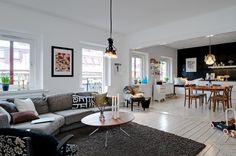 Una distribución perfecta en un piso de 77 m² - Estilo nórdico | Muebles diseño | Blog de decoración | Decoración de interiores - Delikatissen