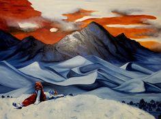 """""""Urlaub mit Freund"""" Künstler: Linde Öl auf Leinwand 70 cm x 90 cm #linde #malerei #oel #crelala"""