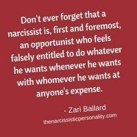 Huh. I can think of a certain president who fits this exactly. Funny how that is. And more funny is how many people don't care. Shrugs. To each his or her own narcissist.