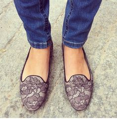 Dream Closet: Lace Loafers / Slippers by Valentino