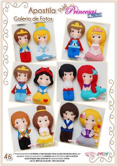 Apostila Digital Pocket Princesas - Feltro em Duas