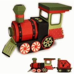 Silhouette Design Store - View Design #70973: train 3d box engine