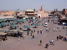 Marruecos Marrakech - Plaza de Jamaa el Fna