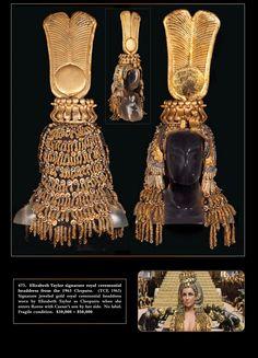 1963 Cleopatra headpiece from auction catalog