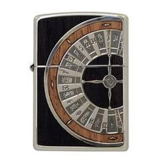 Zippo Lighter Wood Inlay Roulette Both Sides Design WR-NI