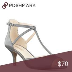 🎉Host Pick🎉 Size 6.5 NWT Nine West heel BRAND NEW!! Gamgee t-strap open toe heel, grey 6.5. With box!  🎉Classic Chic Host Pic🎉10/5/16 Nine West Shoes Heels