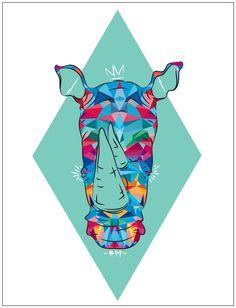 Rhino. Digital illustration. 2014