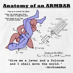 Anatomy of an Armbar T-Shirts