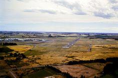 1962 Approaching Christchurch Airport. Christchurch New Zealand, Airports, Homeland, Country Roads, Street, Walkway