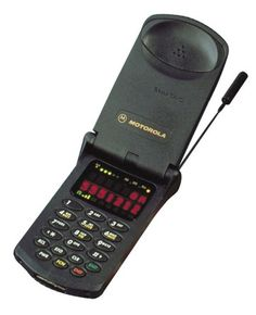 1996: Motorola StarTAC. The first clamshell cellular phone. Also one of the first display screens featured on a cell.