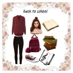 """back to school"" by eldina-jamakovic ❤ liked on Polyvore featuring Lee, Dorothy Perkins, Missguided and Converse"