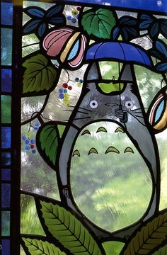 My Neighbor Totoro stainded glass by Takaaki and Yuriko Yatsuda, after the characters created by Hayao Miyazaki - Ghibli Mitaka Museum in Tokyo • https://www.japantimes.co.jp/culture/2001/10/31/arts/a-window-on-miyazakis-animated-world/#.Wg2rRoVXvIo • https://www.flickr.com/photos/71062845@N00/1731767601/ • https://www.flickr.com/photos/adventurerob/6941013763/ • http://www.ageekinjapan.com/ghibli-museum/