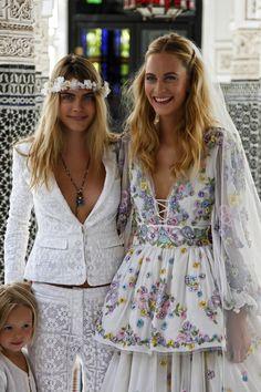 "fiftyshadesofcara: "" 25/05/14 - Cara Delevingne at Poppy's wedding celebration in Marrakech. """
