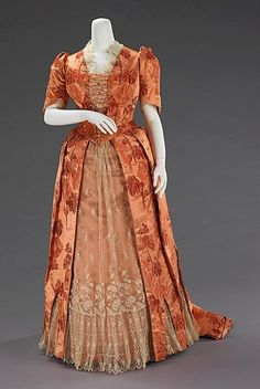 Dinner Dress, 1886 via The Metropolitan Museum of Art