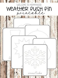 Welcome to Mommyhood: Weather pin poking printables