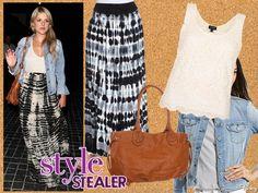 Style Stealer: Ali Fedotowski's Tie-Dye Maxi Madness