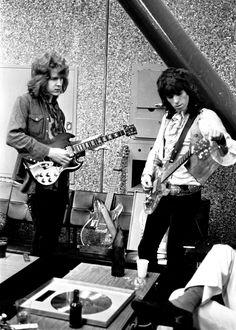 Mick Taylor and Keith Richards