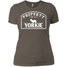 Yorkie - Property Of A Yorkie - Next Level Ladies' Boyfriend Tee