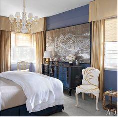 Liz O'Brien's master bedroom in her Pennslvania home.