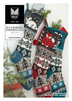 Knitted Christmas Stocking Patterns, Knitted Christmas Stockings, Christmas Knitting, Fair Isle Knitting Patterns, Knitting Charts, Knitting Socks, Christmas Gifts For Women, Christmas Gift Tags, Christmas Christmas