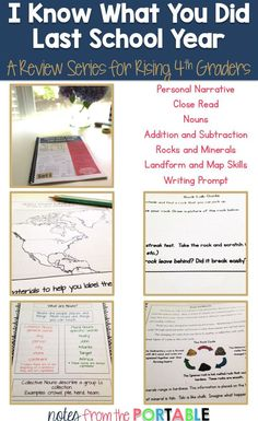 Looking for a review for your child or students?  Help your students review at the end of the year, skip the summer slide, or review standards at the beginning of the new school year.  The first set reviews reading a personal narrative, close read strateg