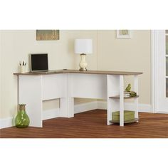 Create the perfect office space with the Altra Dakota L-Shaped Desk with Bookshelves. This desk fits snuggly in a corner to maximize your home office space. The Altra Dakota L-Shaped Desk with Bookshelves requires assembly upon delivery.