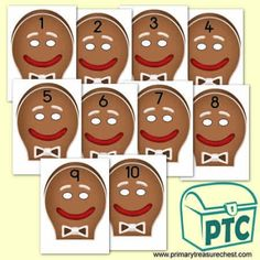 The Gingerbread Man Resources - Primary Treasure Chest Teaching Activities, Teaching Ideas, Gingerbread Man Story, Ourselves Topic, Numbers 1 10, Crafts For Kids, Arts And Crafts, Cake Shop, Role Play