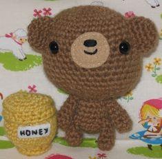 amigurumi Oso con tarro de miel/ Amigurumi Bear & Pot of Honey, ingles/english