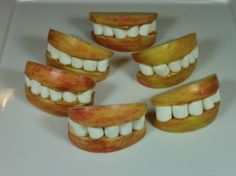 This is a guide about making apple monster mouths. If you are looking for a cute Halloween snack try apple monster mouths.