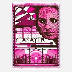 Yeasayer Asheville Poster 16x22  by Status Serigraph