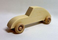 Wooden Toy Car - Classic VW Beetle Bug - Handmade Gift for Children from Reclaimed Wood - All Natural Kids Toy for boys or girls