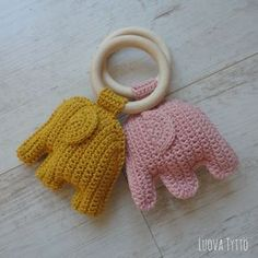 Elephant Teething Ring. Link to pattern
