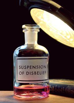 Vinegar & Brown Paper Etched Bottles | Suspension of Disbelief // writing