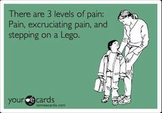 Stepping on a marble and rolling it across your instep is even worse!<<<--- Apparently you sir have never actually stepped on a Lego in the middle of the night.