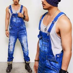 men's fashion overall | Mens Relaxed Suspender Carpenter Overall-Jeans 192 | Fast Fashion Mens ...