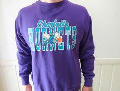 Vintage Charlotte Hornets Basketball Sweatshirt by WylieOwlVintage, $25.00