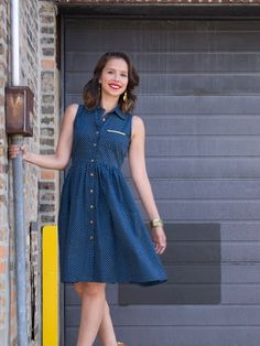 Shanti shirtdress blue
